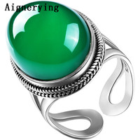 Zambia Natural Emerald Ring For Women With Certification Adjustable Ring Hot Sale Fine Jewelry Perfect