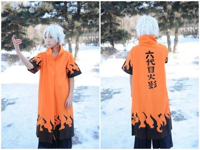 Naruto Leaf Village 6th Sixth Hokage Cloaks Coat Robe Cosplay Costume Free Shipping