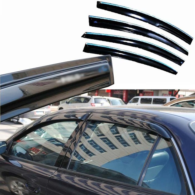 4 pcs Janelas de Ventilação Viseiras Chuva Guarda Sol Escudo Escuro Defletores Para Buick Regal 2004-2008