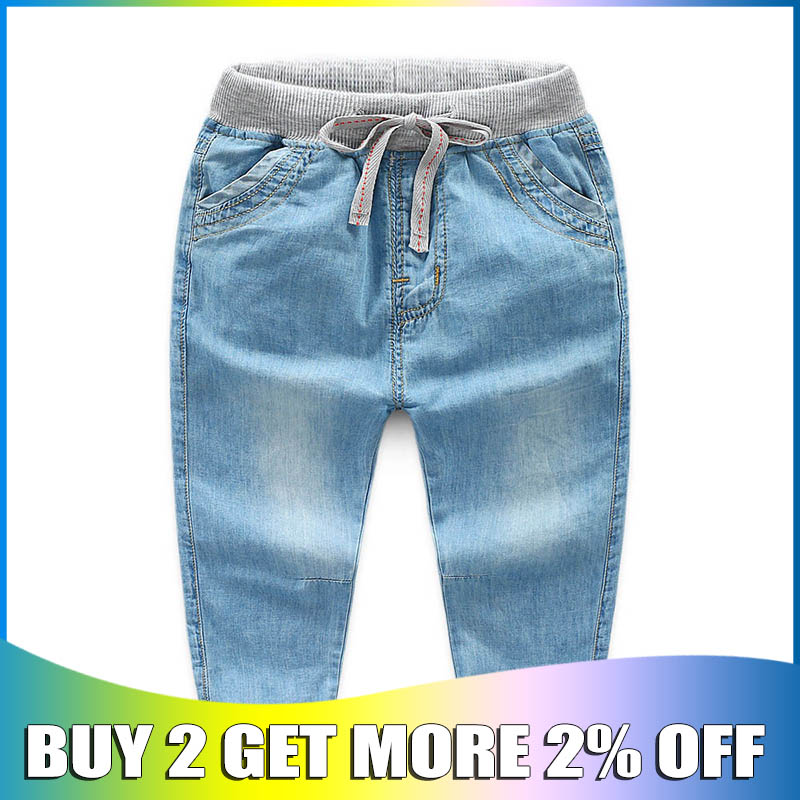 Boys Jeans children fashion cotton long Pants children denim trousers pants boys casual pants for boys pants 3.4.5.6.7 years(China)