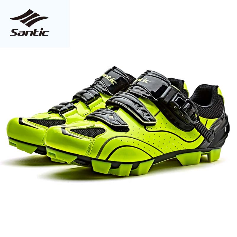 Santic MTB Cycling Shoes Men PU Breathable Mountain Bike Shoes 2018 Pro Team Racing Bicycle Athletic Locking MTB Shoes Sneakers peak sport speed eagle v men basketball shoes cushion 3 revolve tech sneakers breathable damping wear athletic boots eur 40 50