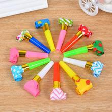 20 шт. Детские разноцветные выдувные свистки, Детские реквизиты на день рождения, украшения, принадлежности для украшения, игрушки для шумов, fluitjes Kids