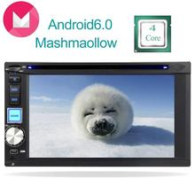 Anroid6.0 Quad core In Dash Double Din car navigation GPS DVD Player Car Monitor steering wheel Bluetooth Hands Free Mirror link