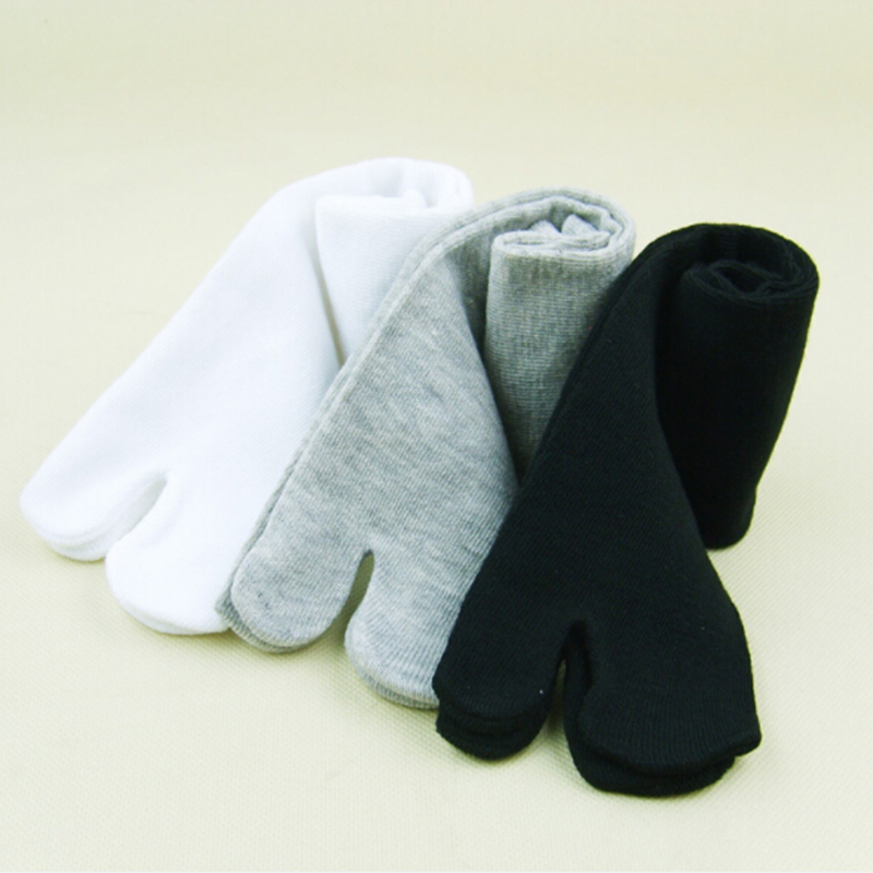 1 Pairs New Unisex Cotton Ninja   Socks   Japanese Style Kimono Flip Flop Slipper Sandal Split 2 Toe Tabi Foot Finger for Men Women