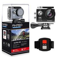 AKASO EK7000 4k Action Camera Ultra HD underwater Sports Camera diving ski bike waterproof DV Cam profesional 12MP 2 batteries