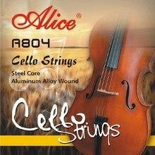 Алиса A804 Виолончель струны стальной сердечник алюминиевый сплав ран никелированный шариковый конец