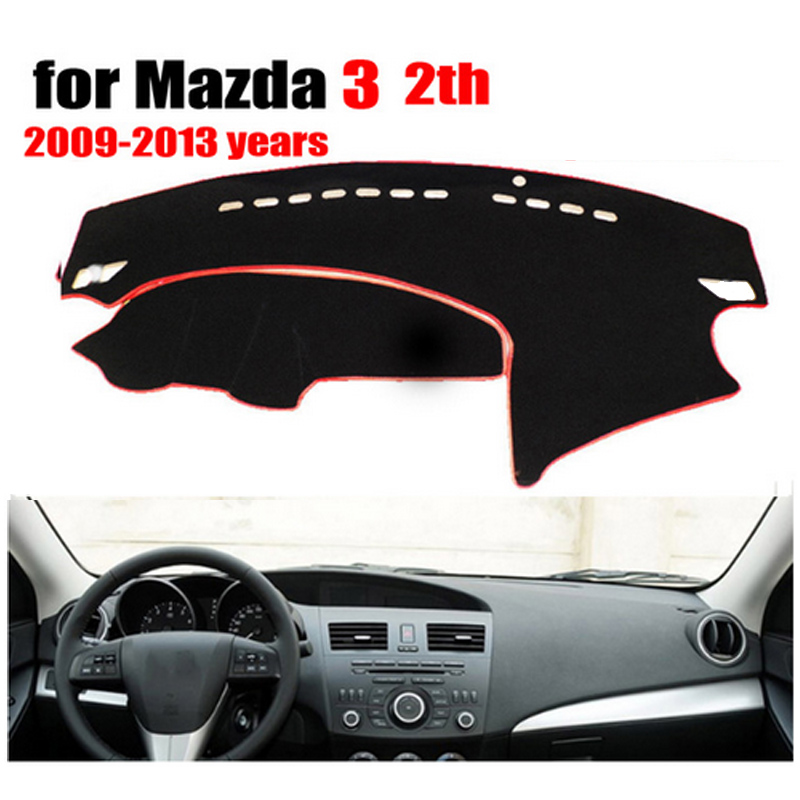 RKAC Car Dashboard Cover Mat For Mazda 3 2th 2009-2013 Years Left Hand Drive Dashmat Pad Dash Mat Auto Dashboard Accessories