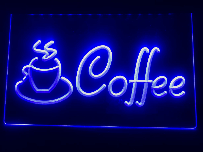 I433 Coffee Cup Shop Cappuccino Cafe LED Neon Light Sign