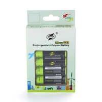 ZNTER 2/4 sztuk 1.5 V akumulator AA 1700 mAh USB ładowania Bateria litowa Bateria przez mikro kabel USB do ładowania dropship