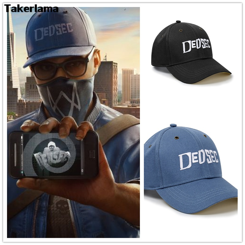 High Quality Watch Dogs 2 Aiden Pearce Cap Costume Cosplay Watch Dogs 2 Hat Baseball Caps Halloween Christmas Gift 2 Colors