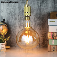 R160 big size edison bulb e27 Retro vintage lamp LED bulb light 6W 220V E27 pendant lamp drop light commercial lighting lamp
