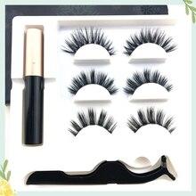 New Magnet Eyelash Magnetic Liquid Eyeliner False Eyelashes Tweezer Set Waterproof Long Lasting Extension
