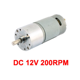 UXCELL Hot Sale 1 Pcs 6mm Dia Shaft High Torque Solder Cylindrical Gear Box DC Motor DC 12V 200RPM clatronic km 3632 red кухонный комбайн