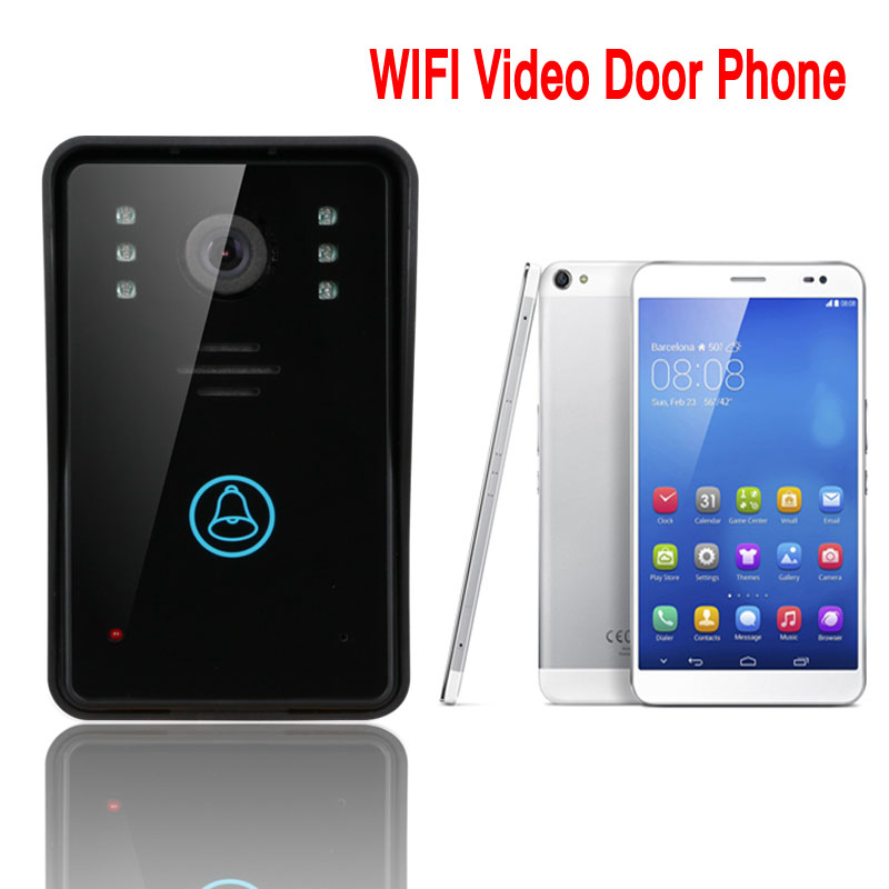 Free shipping Access Control Touch Keypad WiFi DoorBell Wireless Video Door Phone Home Intercom System IR RFID Camera WIFI002 android iso app wifi video door phone rfid keypad doorbell long type no electric strike lock system wifi door access control kit