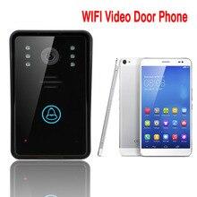 Free shipping Access Control Touch Keypad WiFi DoorBell Wireless Video Door Phone Home Intercom System IR RFID Camera WIFI002