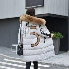 New 2016 Winter Jacket Women Down Jackets thicken loose medium-long raccoon fur Hooded Duck down coat Women's outerwear Parka