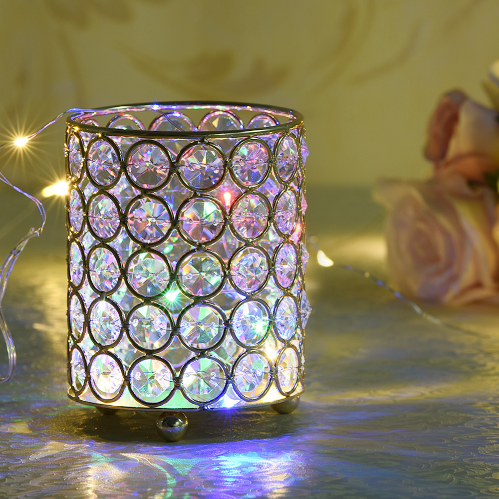 MagiDeal 3pz Candeliere Supporto Della Candela Tealight Di Cristallo Decorazione Del Banchetto Candele e portacandele