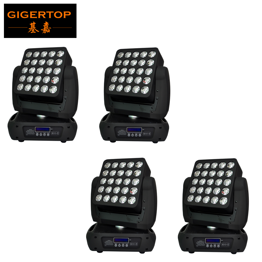 TIPTOP TP-L643 Cree 25 Head Led Moving Head Matrix Light High Brightness Led Individual Control 25 X 12W RGBW 4IN1 Power In/out
