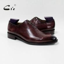 Cie/ г. мужские туфли-оксфорды из натуральной телячьей кожи на плоской подошве с квадратным носком, повседневная обувь, коричневый цвет, ручная работа, OX-08-13