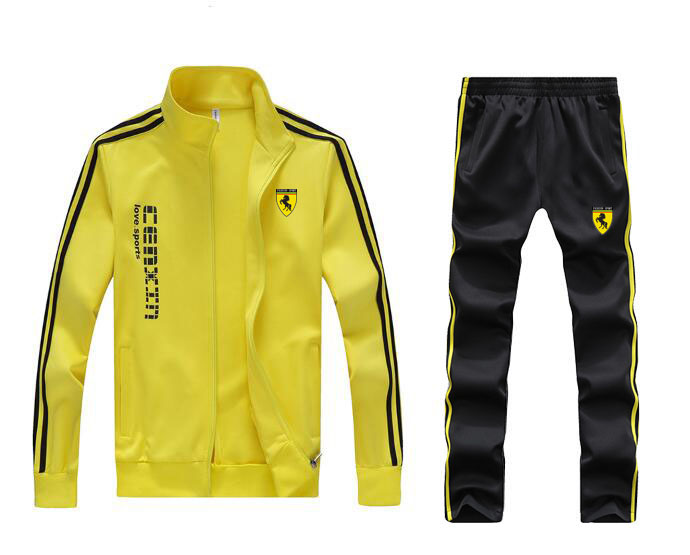 Men Full Outdoor Train Gym TrackSuit Sport Jacket Coat Bottom Top Suit Trousers Pants Track Suit Outfit 5 Colors