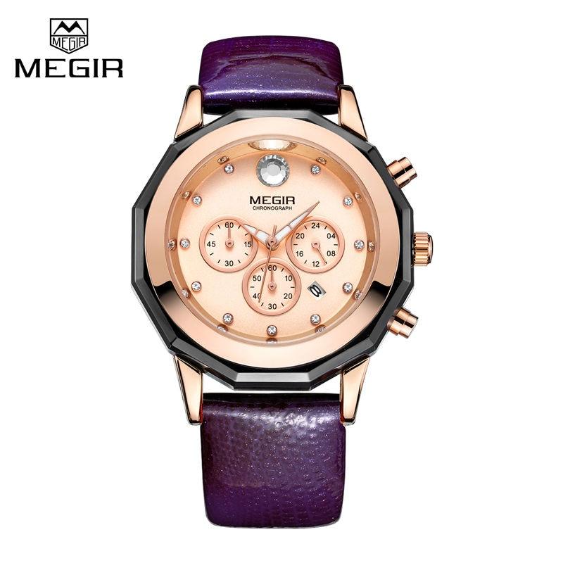 Megir Chronograph Watches Women Fashion Casual Watch Luxury Brand Quartz Watches Clock Ladies Dress Wristwatch Relogio Feminino цена
