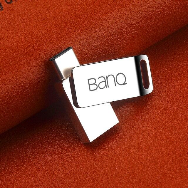 BanQ C60 Tipo-c OTG USB 3.0 Flash Drive 16 GB Pen Drive de Memoria Del Teléfono Inteligente MINI Usb Stick envío gratis