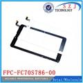 Nuevo 7 '' pulgadas de pantalla táctil para tablet capacitiva pantalla táctil digitalizador FPC-FC70S786-02 / FPC-FC70S786-00 envío gratis