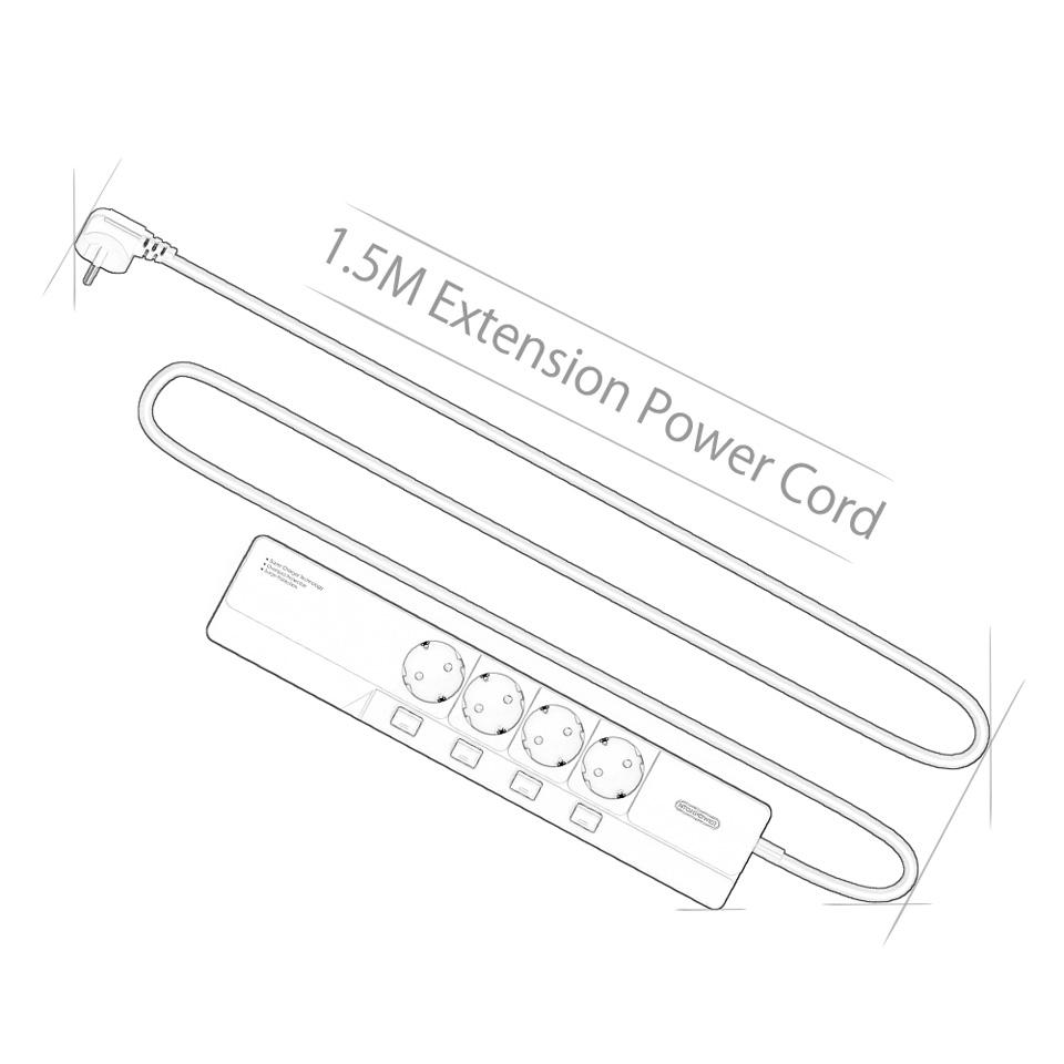 NTONPOWER EU Plug USB Power Socket Surge Protection (12)