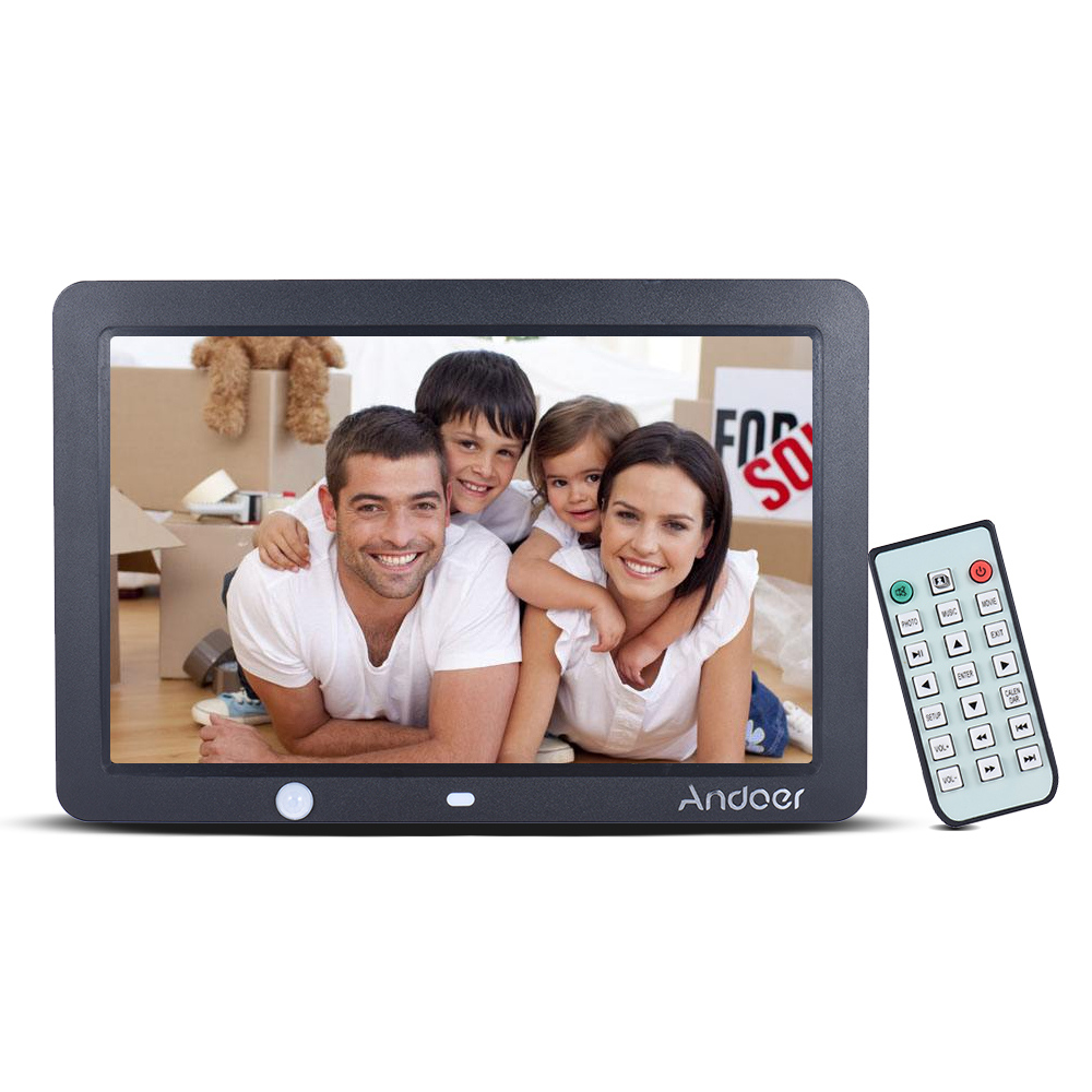 Andoer 12 TFT LED Digital Photo Frame 1280 800 Human Motion Detection with Remote Control Support