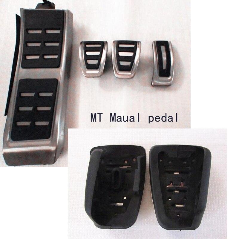 Métal anti-dérapage de voiture pédale de gaz De Frein pad repose-pied cover accelerator pour Audi A4 A5 A6 (13 +) A7 Q5 MT Maual