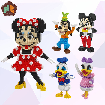 Mickey Mouse Anak-anak Blok Plastik HC 9053 Desain Gratis Pengiriman Produk Yang Indah Hadiah Mainan
