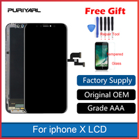 Original A+++Top Quality Screen for iPhone X LCD Display OLED TFT Replacement 3D Touch Screen Digitizer Assembly No Dead Spot
