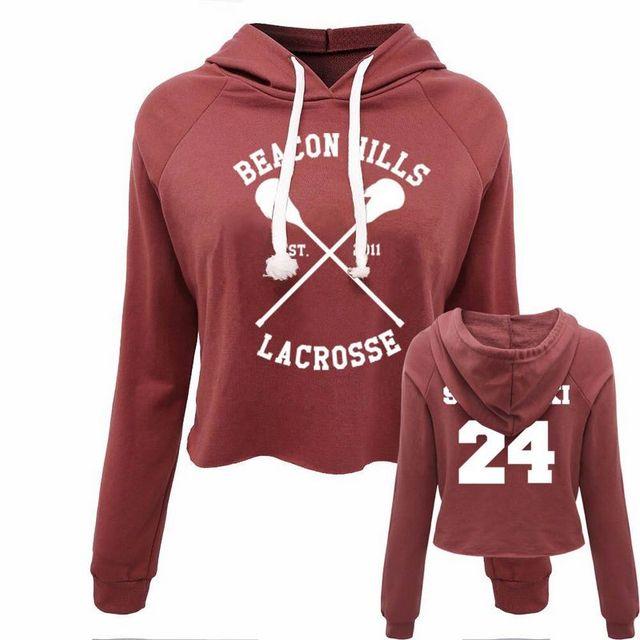 Teen Wolf Beacon Hills Lacrosse Stilinski 24 Sweatshirt Women Lady crop top  Sexy Hoodie 4b0fa0ac7
