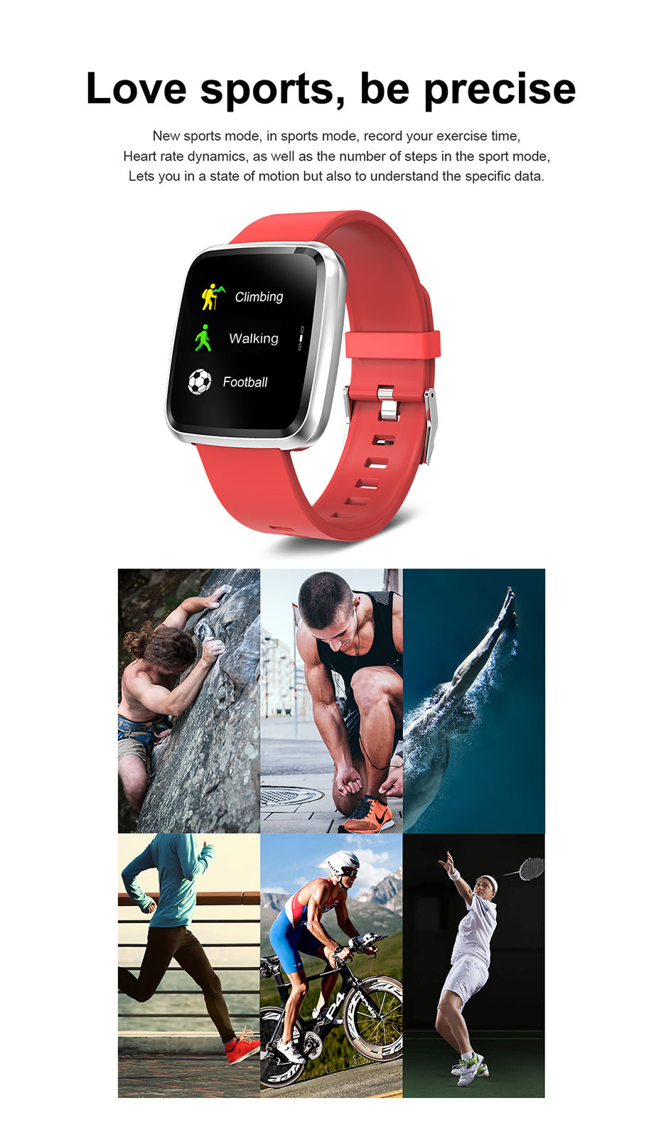 COLMI CY7 PRO Smart watch Full screen touch IP67 waterproof Bluetooth Sport fitness tracker Smartwatch For IOS Android Phone 4