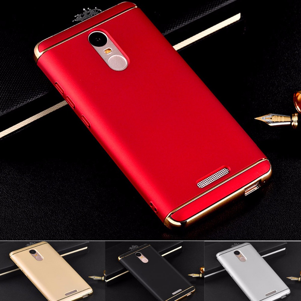 Luxury Gold Red Removable 3 in 1 Hard Plastic Case Xiaomi Redmi Note 3 Pro Prime Case PC Plating Matte Cover Xiaomi Redmi Note 3