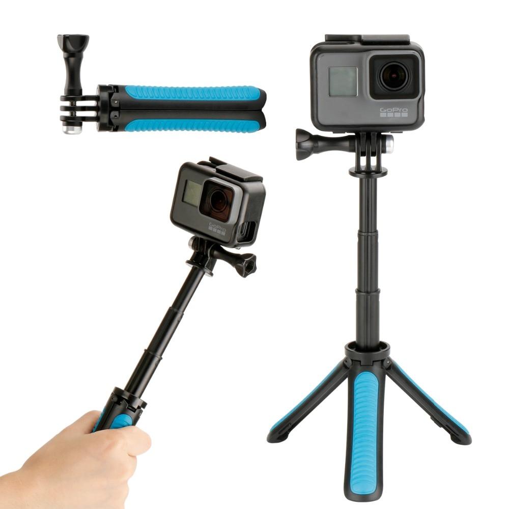 Gopro Trépied Selfie Bâton De Poche En Métal Extensible 2 dans 1 Monopode pour Gopro Hero 6 5 4 3 SJCAM Xiaomi YI 4 k