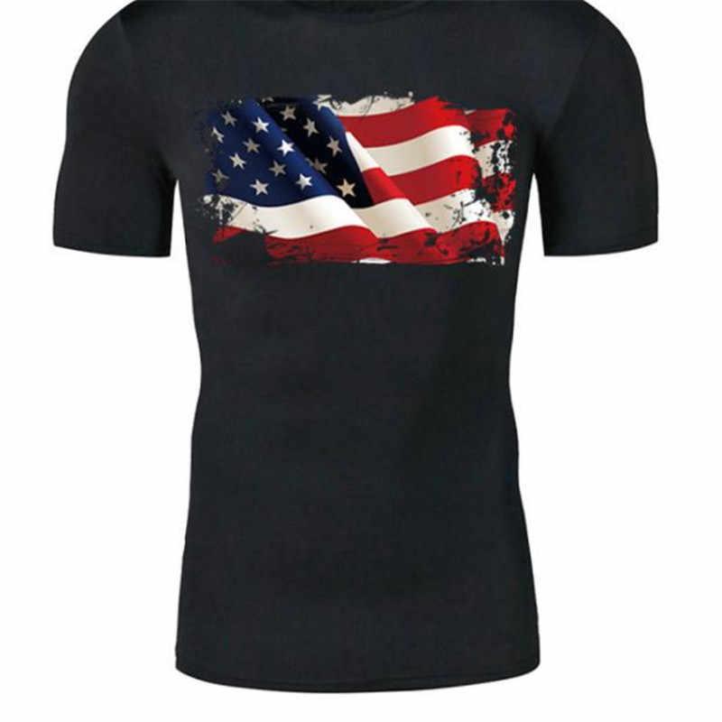 Mode PVC Patch Kleidung Große USA Flagge Thermische Transfer Druck T shirt Frauen eisen auf patches für kleidung Mädchen Aufkleber