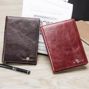 Image 5 - CONTACTS Casual portafoglio per passaporto maschile in vera pelle porta carte di credito per uomo porta passaporto per uomo con tasche per monete da viaggio