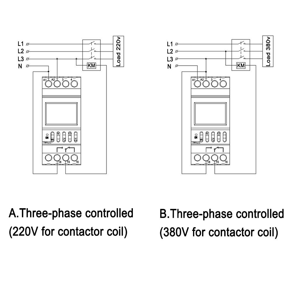 TM623三相接线图