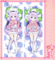 Anime Cartoon Kobayashi-san Chi no Maid Dragon Double sided hugging Pillow Case Pillow Cover Pillowcase Peach Skin 2 Way 72024