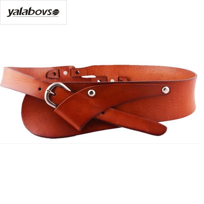 Yalabovso Top Brand Luxury 100% Genuine Leather Brief Belt Cowskin Sealing Belt For Woman Belt Z20