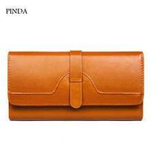 free shipping new fashion brand women's long organizer wallet ladies money pack purse coins bag 100% genuine cowhide leather