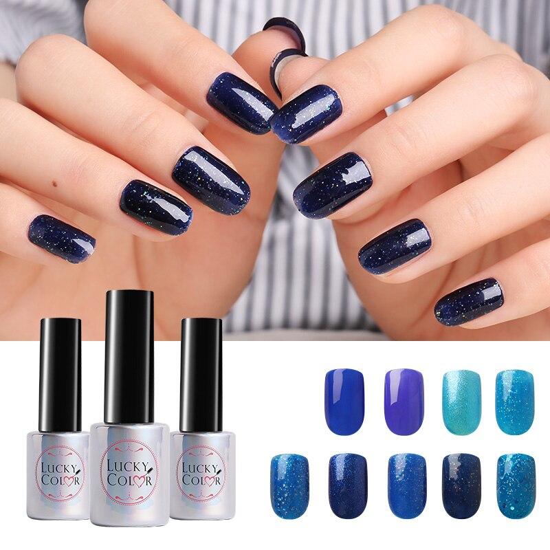 c7bacd6ea5 Cielo azul de diamantes de Gel UV polaco para arte de uñas Gel empapado de  barniz Led laca de larga duración de botella de 10 ml disponible en 9  colores