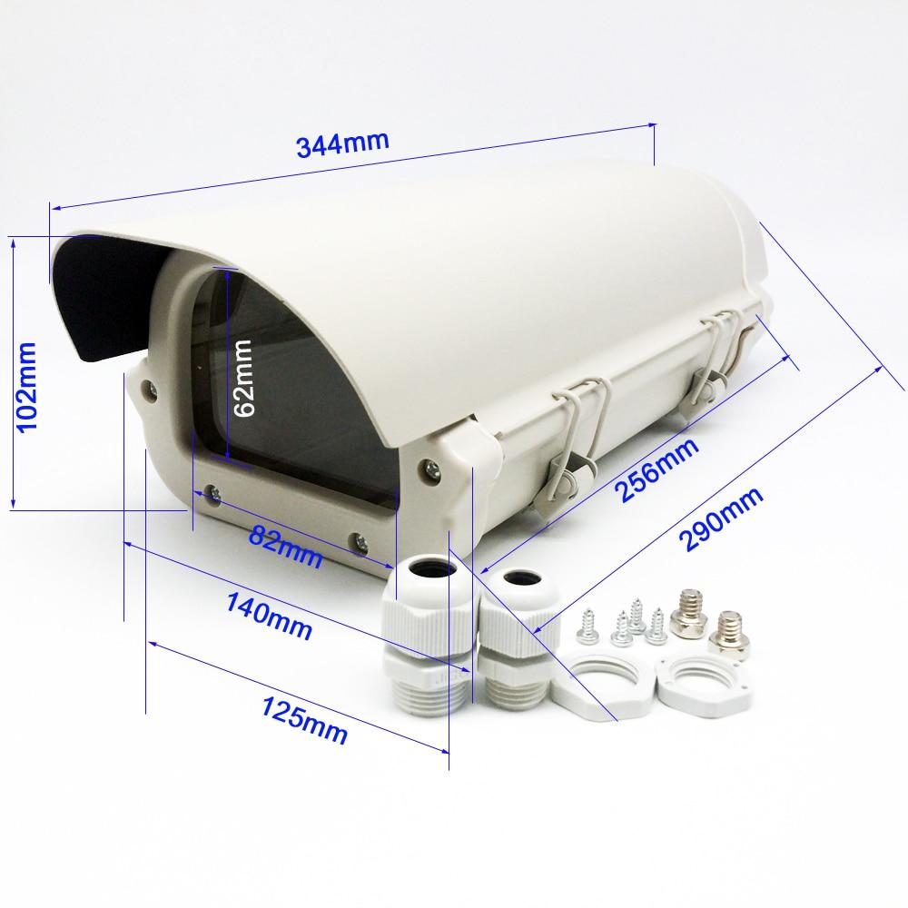 ФОТО CCTV camera 256*125*102mm Housing Outdoor Waterproof Double Lock Waterproof Aluminium Cover kamera Housing case Antidust