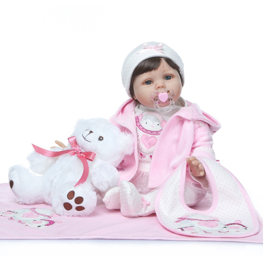Reborn baby doll toys for girls 22inch 55cm soft silicone reborn bebe dolls gift reborn toddler bonecasReborn baby doll toys for girls 22inch 55cm soft silicone reborn bebe dolls gift reborn toddler bonecas