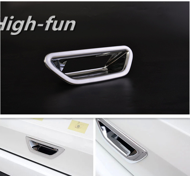 FUNDUOO For Nissan X-Trail  X Trail Xtrail Rogue 2014 2015 2016  New Boot Tailgate Rear Door Handle Cup Bowl Cover Trim Sticker 4 pcs chrome plated abs door handle bowl for nissan qashqai