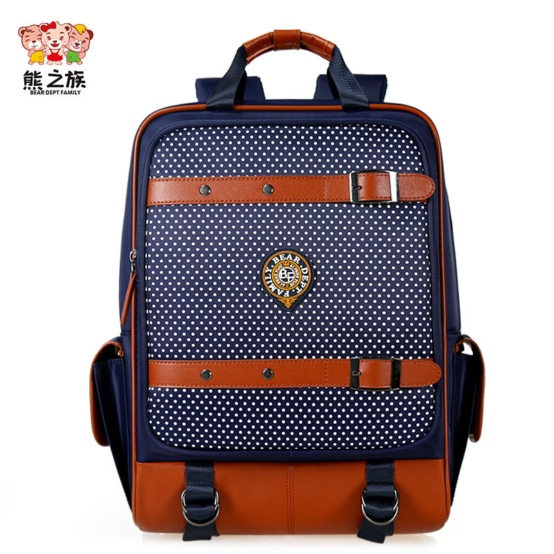 BEAR DEPT FAMILY Brand Children Orthopedic Primary School Bags Boys Girls Students Backpacks Kids Nylon Large Capacity Backpack серьги swarovski 5395238