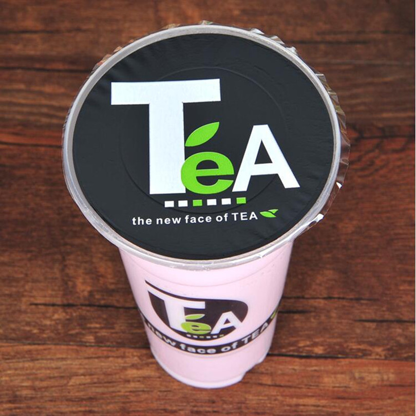 Disposable  Bubble Tea /milk Tea /plastic Cup Sealing  Film For Diameter 90cm/95cm Cup,TeA Pattern Cup Sealing Film