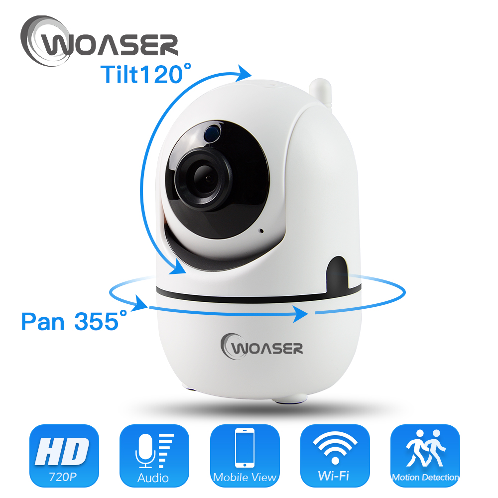WOASER WIFI 1.0MP IP IR-Cut Night Vision Two Way Audio Camera Wireless HD 720P PTZ CCTV Surveillance Camera P2P Cloud Mobile APP