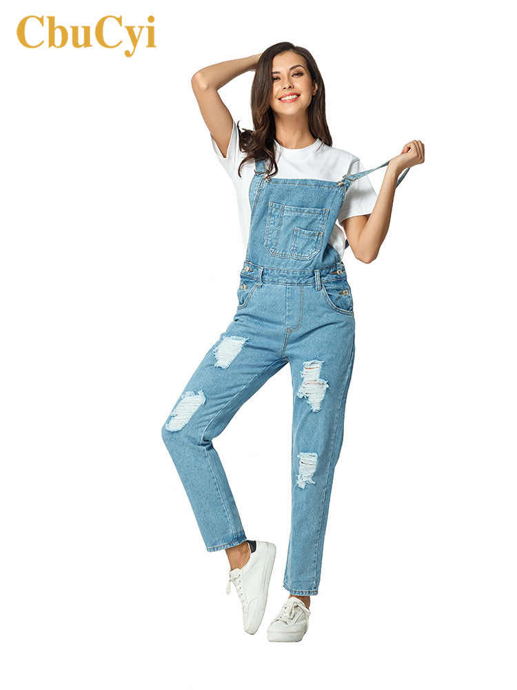 Модные женские джинсовые боди брюки плюс размер отверстие повседневные джинсовые комбинезоны для женщин рваные джинсовый комбинезон пляжного типа обтягивающие боди